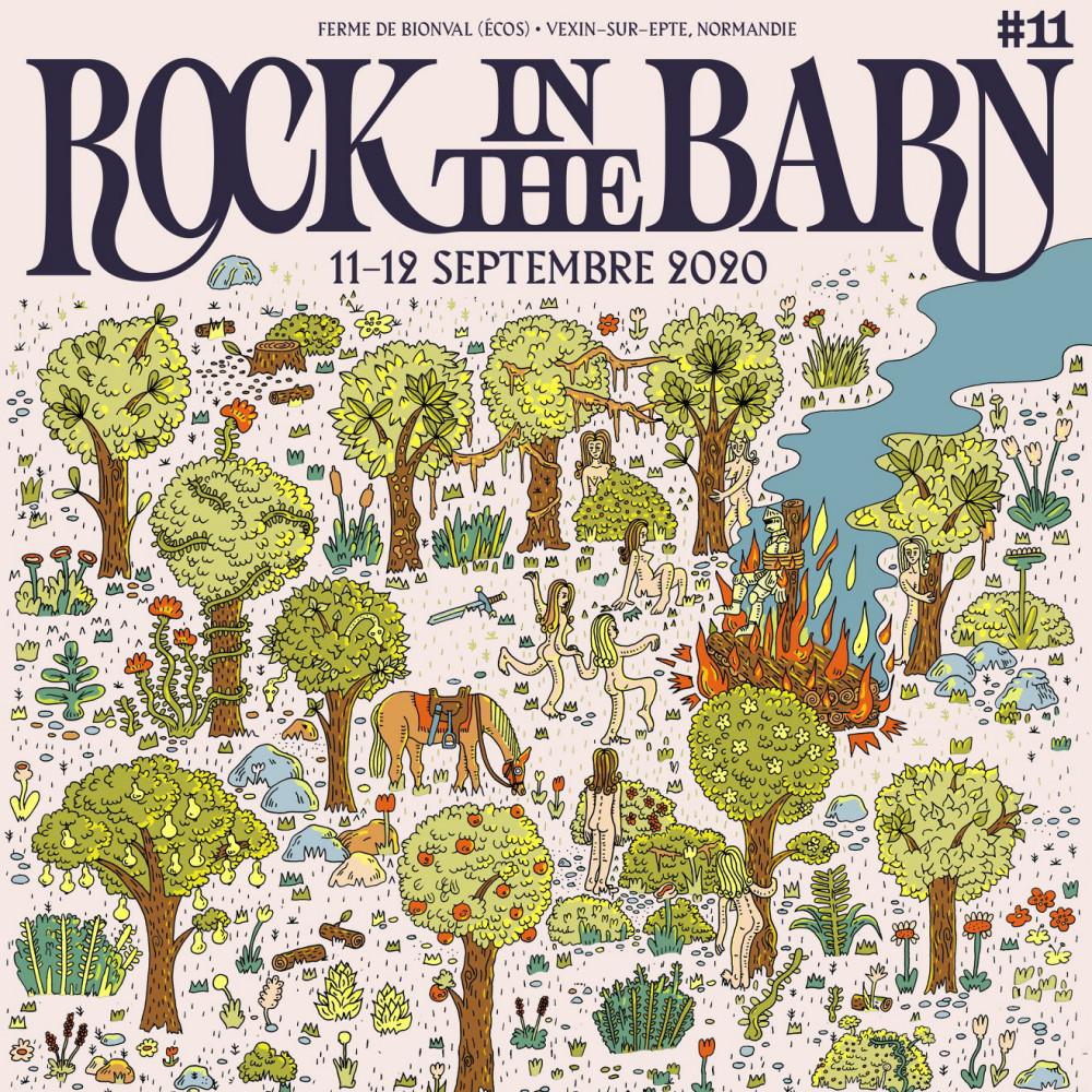 onzième édition du festival rock in the barn affiche